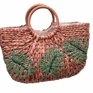 Straw Studios Palm Leaf shoulder bag